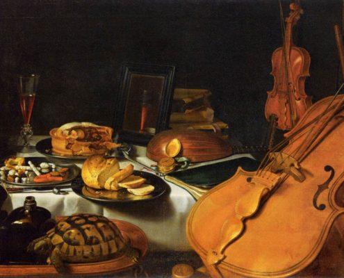 Still Life with Musical Instruments, 1623 by Pieter Claesz