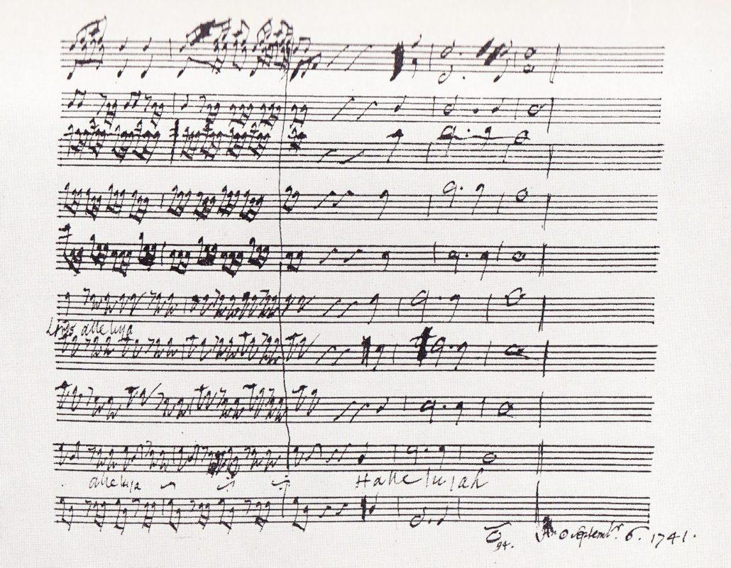 Hallelujah score, 1741