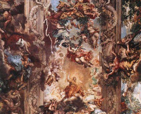 Pietro da Cortona, Allegory of Divine Providence and Barberini Power, fresco (Palazzo Barberini, Rome)