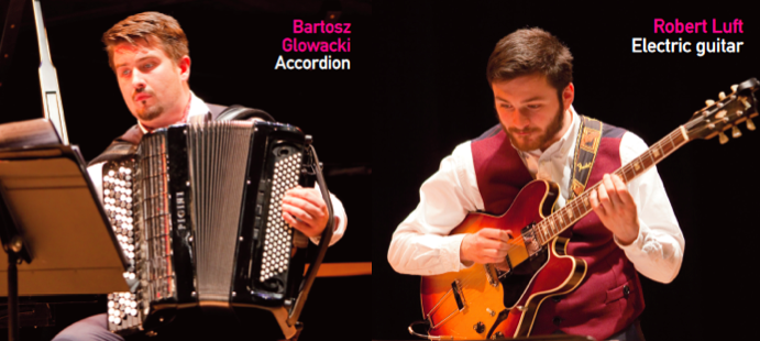 Bartosz Glowacki (Accordion) and Robert Luft (Electric guitar)