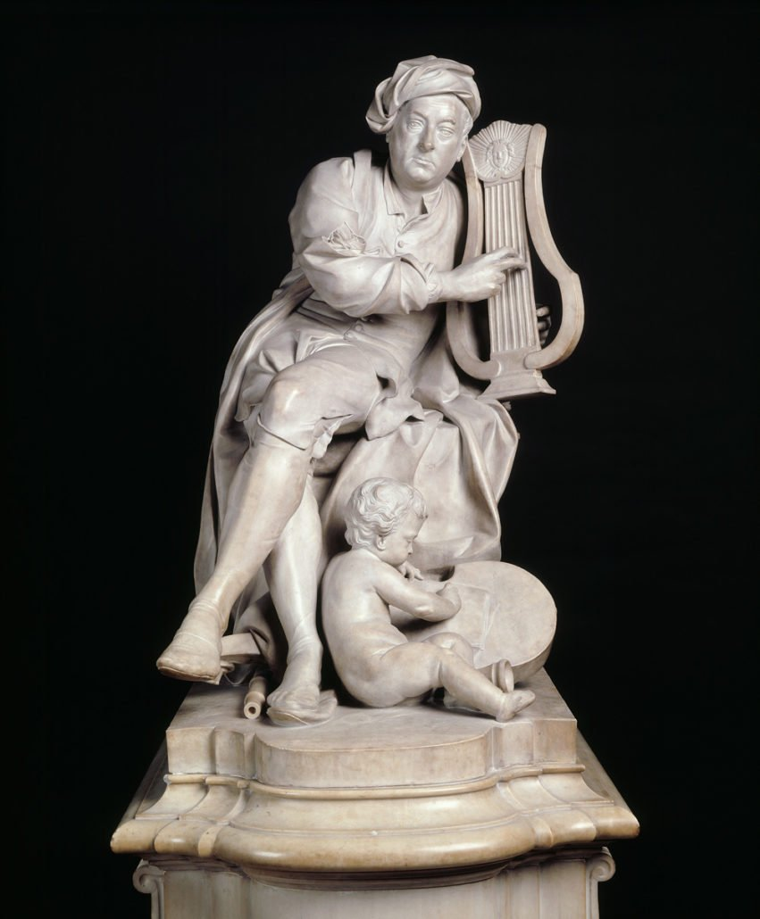 George Frederic Handel, marble statue by Louis Francois Roubiliac 1738