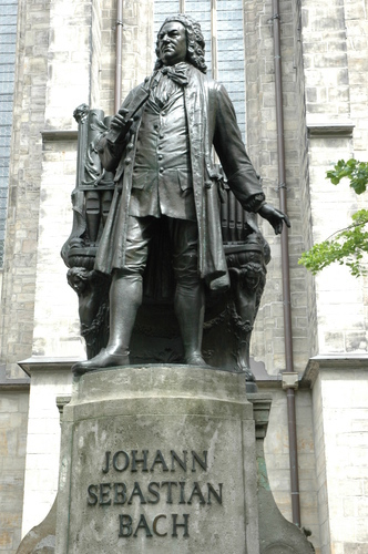 Johann Sebastian Bach statue, St. Thomas Church, Leipzig