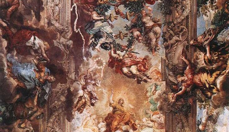 Pietro da Cortona, Allegory of Divine Providence and Barberini Power, fresco (Palazzo Barberini, Rome)