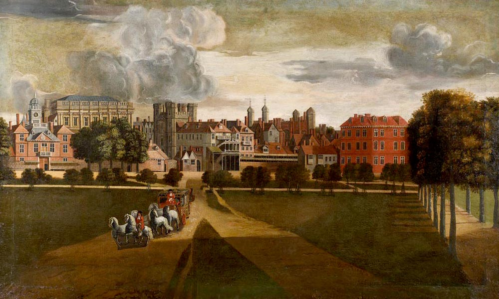 The Old Palace of Whitehall by Hendrik Danckerts