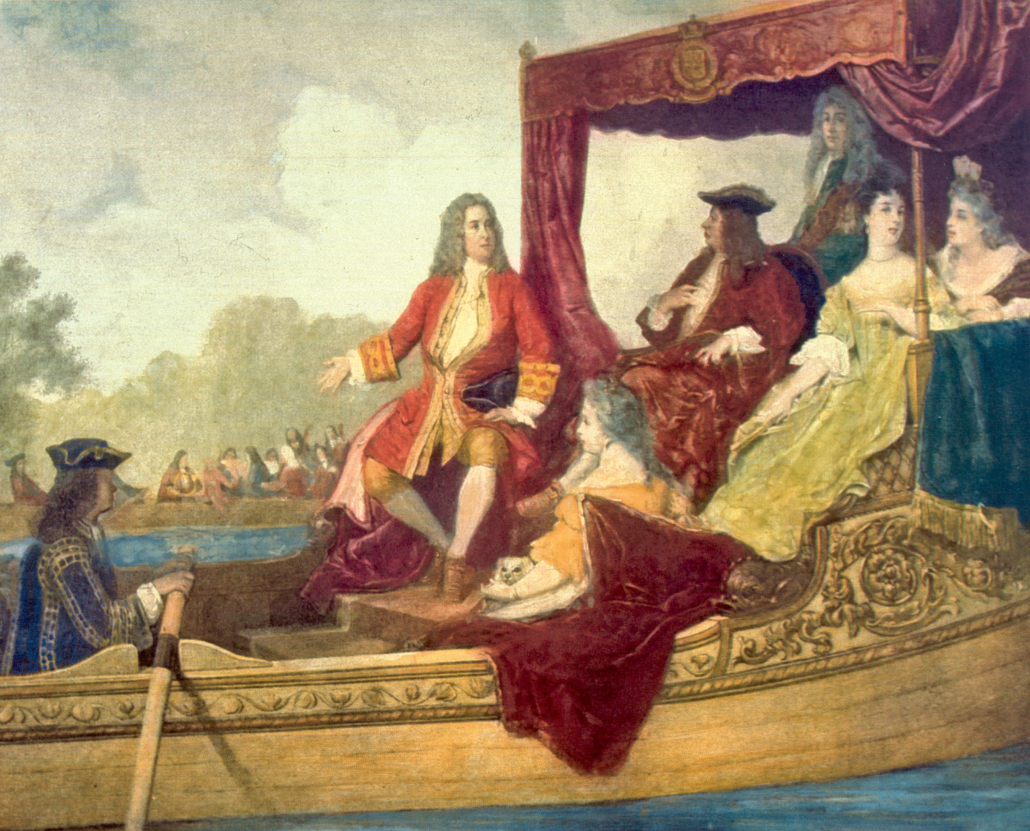 Handel and George I on the Thames, 17 July 1717