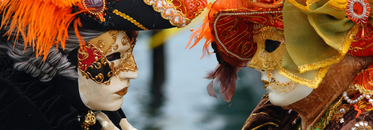 Venetian Carnival Masked Lovers