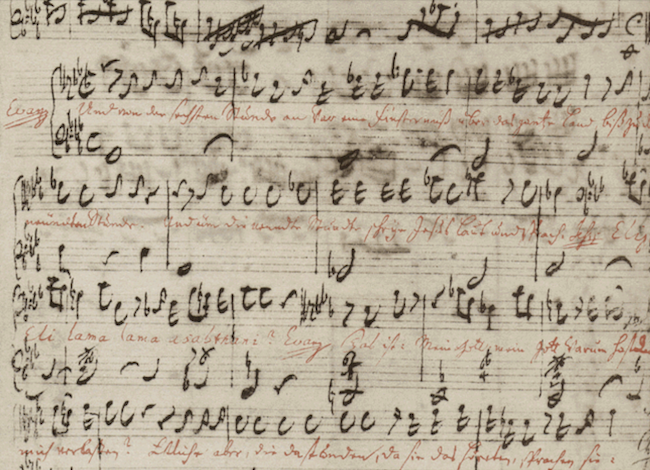 Manuscript of Bach's St Matthew Passion