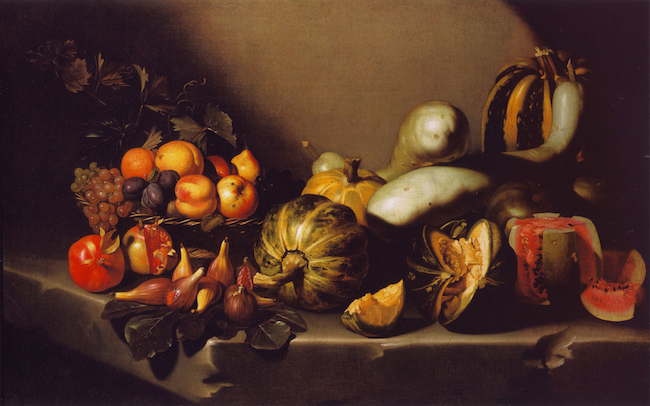 Caravaggio Still Life with Fruit on a Stone Ledge