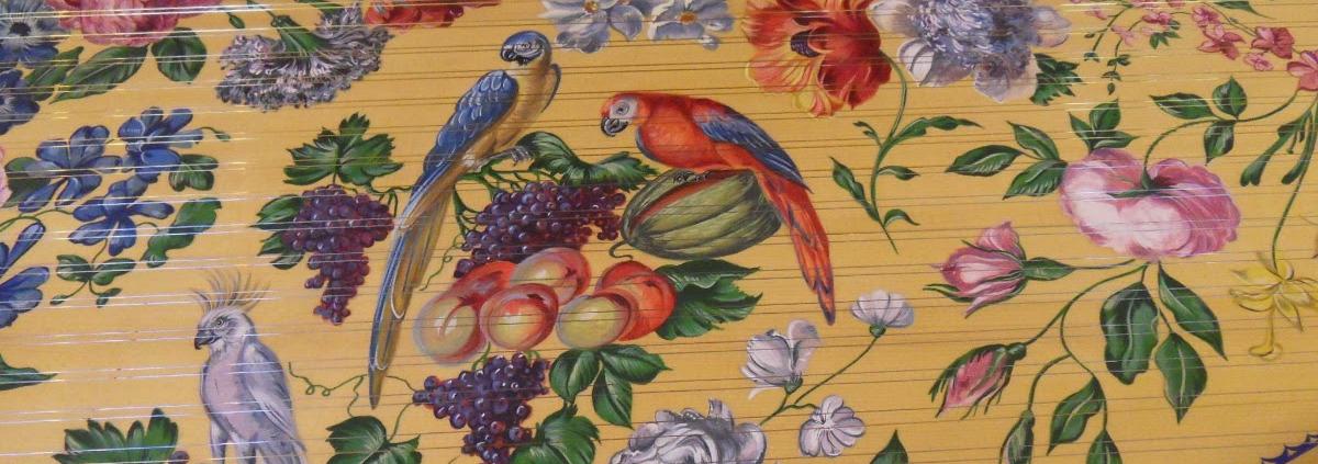 Inside a harpsichord